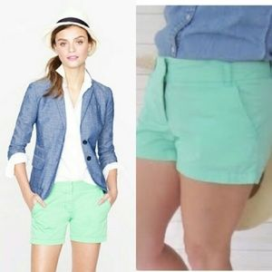 J.Crew Chino Soft Mints Shorts. Size 6